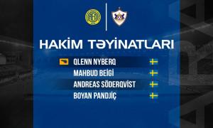 AEL - Qarabağ FK - Listed Referees